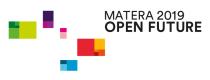 Logo Matera 2019 open future